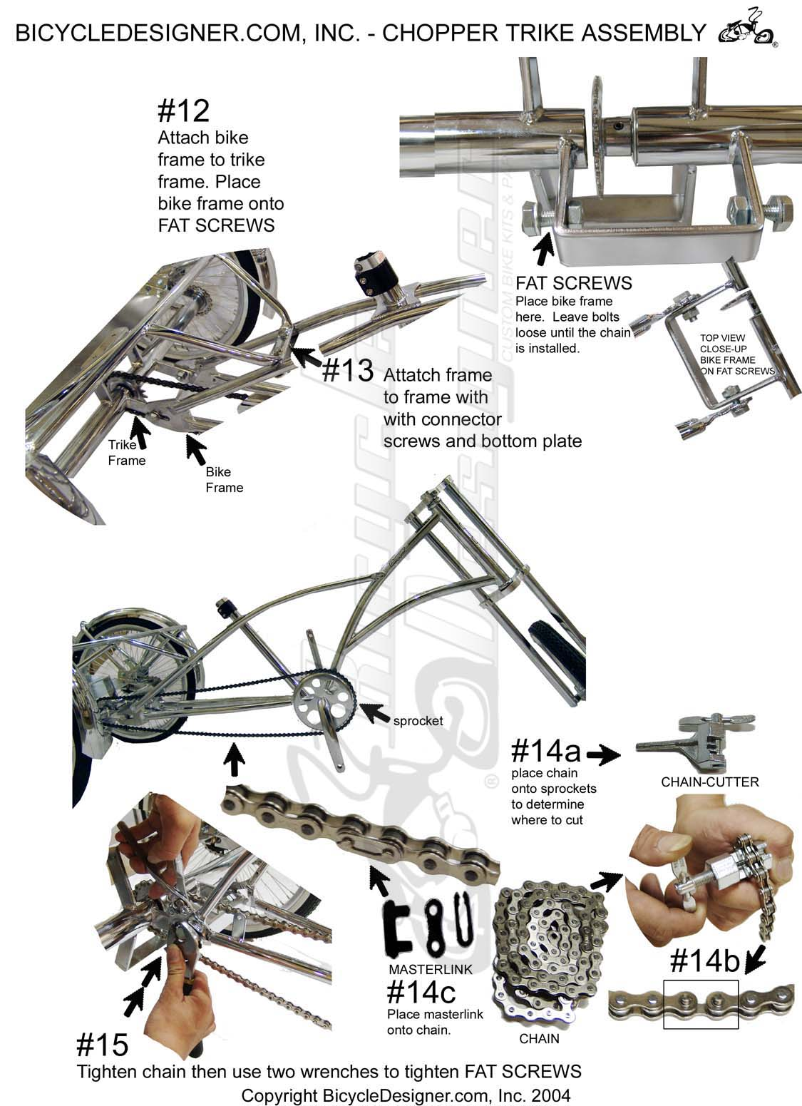Bicycle Parts Trike Diagram And List For Sears Bicycleparts Model Chopper Assembly Page 3