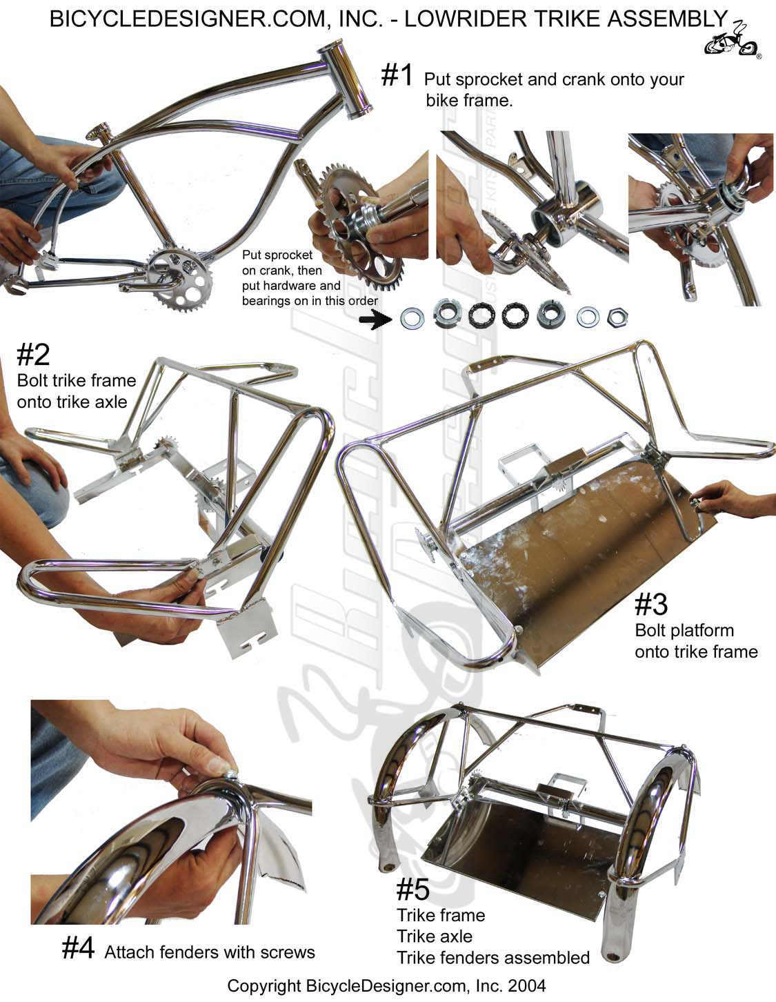 Bicycle Parts Trike Diagram And List For Sears Bicycleparts Model Lowrider Assembly Page 1