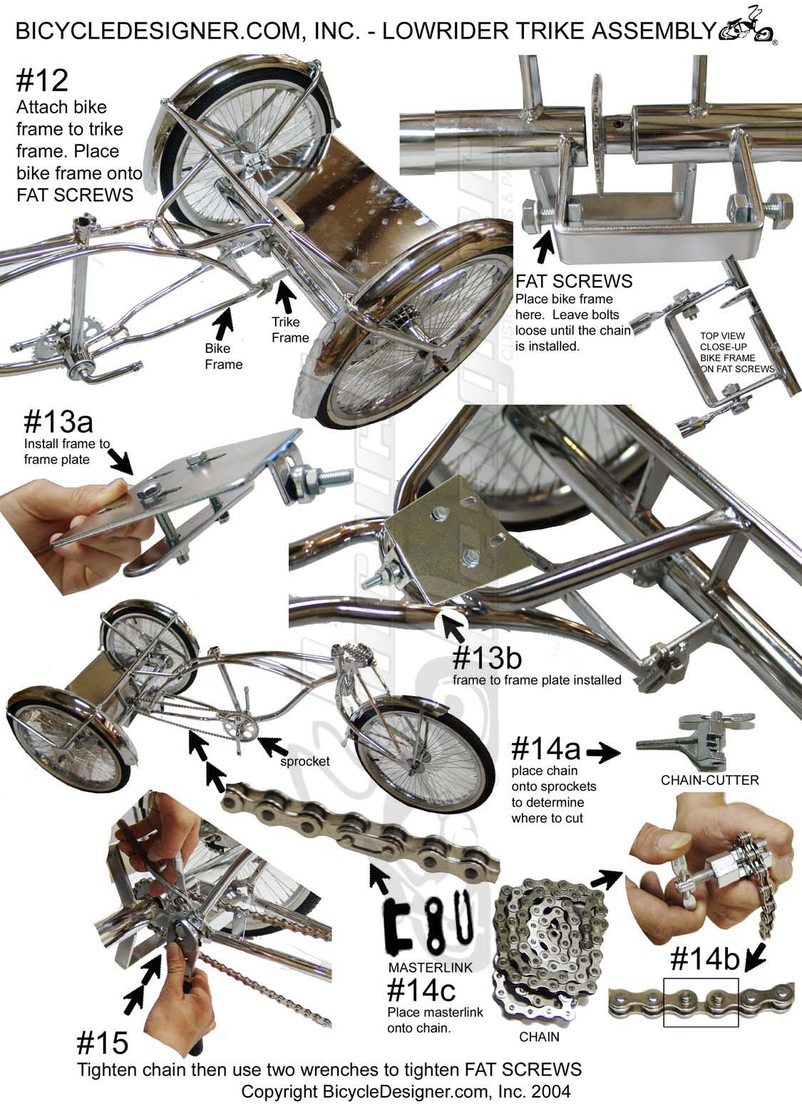 Bicycle Parts Trike Diagram And List For Sears Bicycleparts Model Lowrider Assembly Page 3