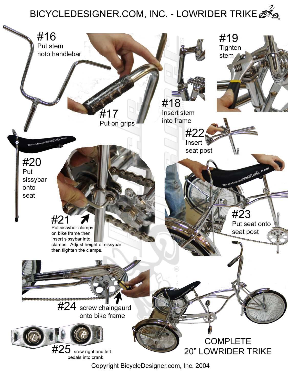 Bicycles & Parts Assembly Sheets