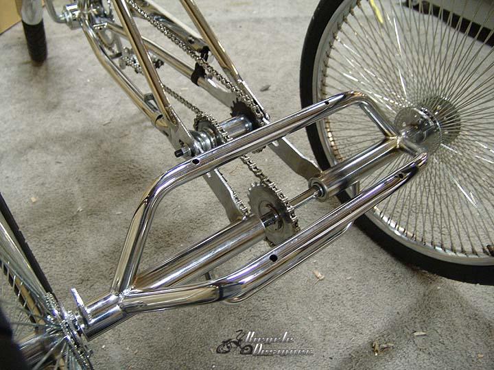 Задний мост для трехколесного велосипеда, набор для стальной рамы, узкий, 60см