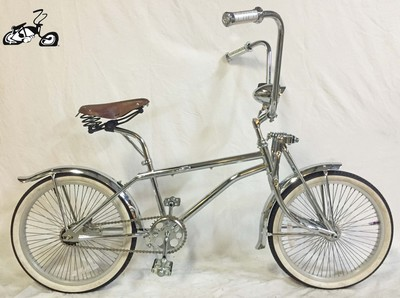 Chrome Leather BMX Lowrider Bike