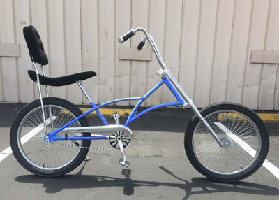 High Back Fat Tire Chopper BLUE
