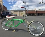 Lovely Lowrider Pinstripe Display Bike - Zesty