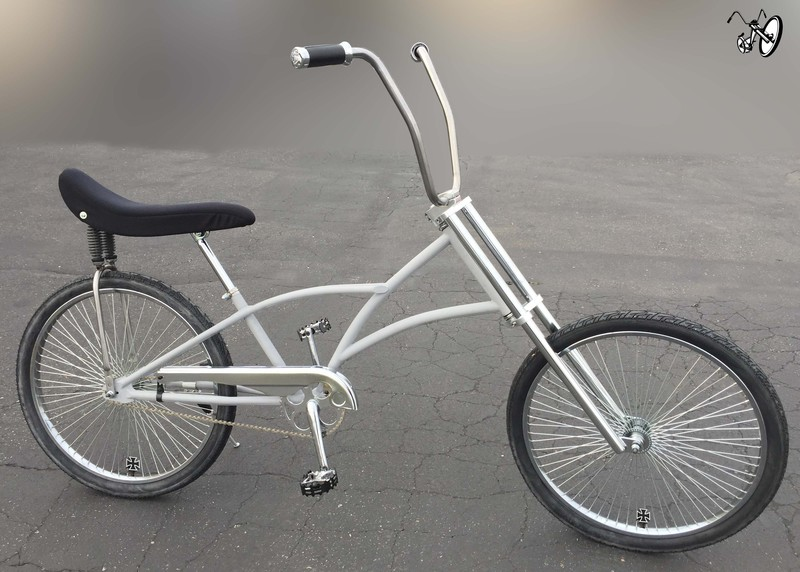 Raw Chopper Bicycle With Suspension Gel Banana Seat