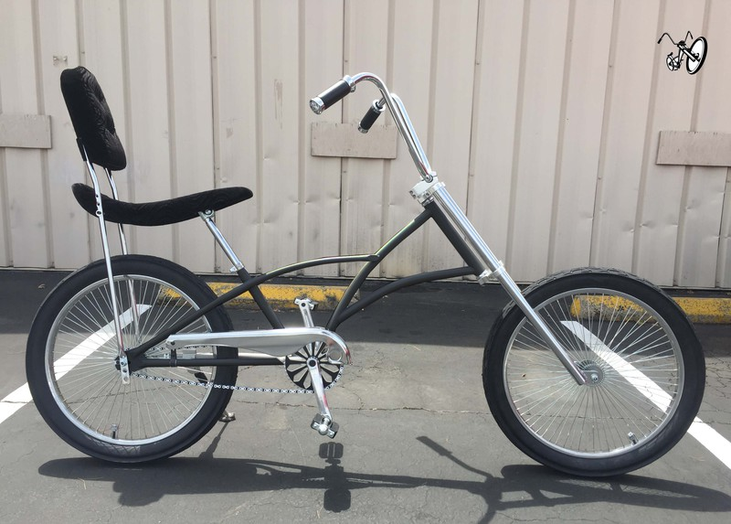Mens High Back Chopper Bicycle With Black Color Frame