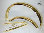 "20"" Bicycle Fenders - Ducktail Gold"