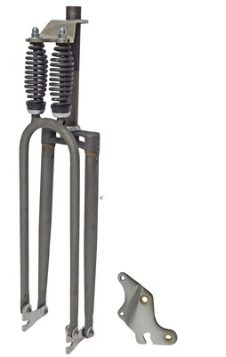 Cuda Double Springer Fork - RAW METAL