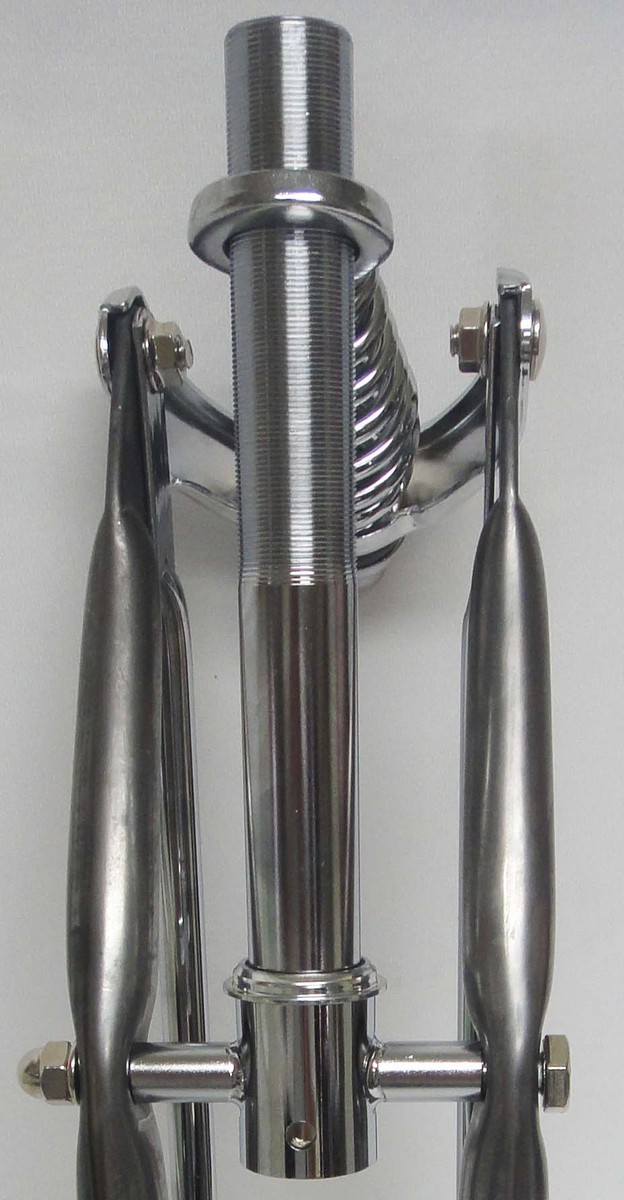 26 Quot Straight Springer Fork With Raw Metal Legs