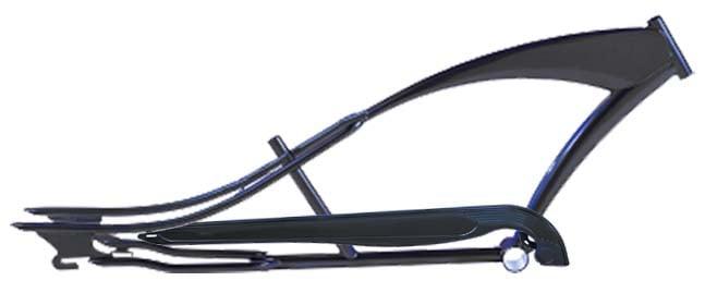 Micargi Puma Stretch Cruiser Frame And Chain Guard Black