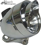LED Bullet Light with Visor CHROME