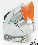 Bullet Light CHROME ORANGE SPARKLE VISOR
