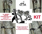 LED Chopper Bullet Light Kit CHROME