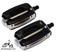 "1/2"" Krate Bicycle Pedals BLACK/CHROME (pair)"