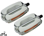 "1/2"" Krate Bicycle Pedals - WHITE/CHROME"