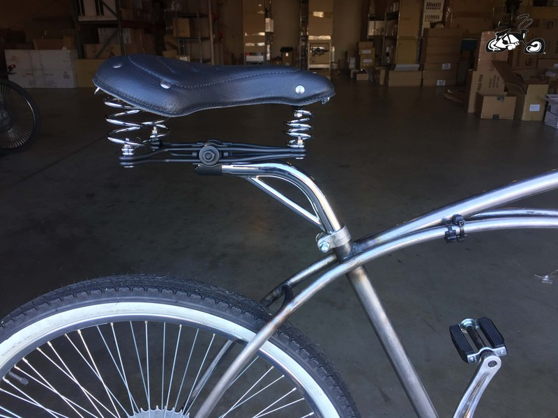 Set Back Extended Seat Post For A Cruiser Bicycle