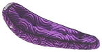 "20"" Bicycle Banana Seat Veloure 5-Button PURPLE"