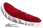 "20"" Bicycle Banana Seat Veloure 2-Tone RED/WHITE"