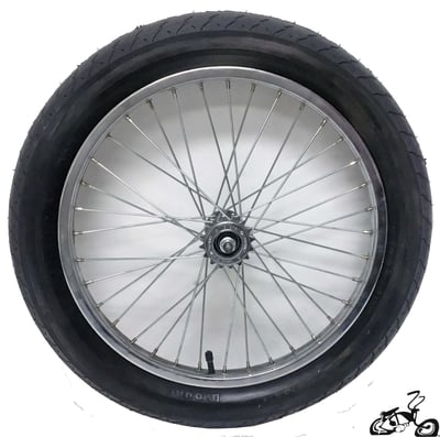 "20"" 36 Spoke Rear Free Wheel with 3"" Tire"