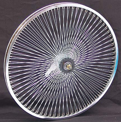 "24"" 140 Spoke Coaster Wheel CHROME"