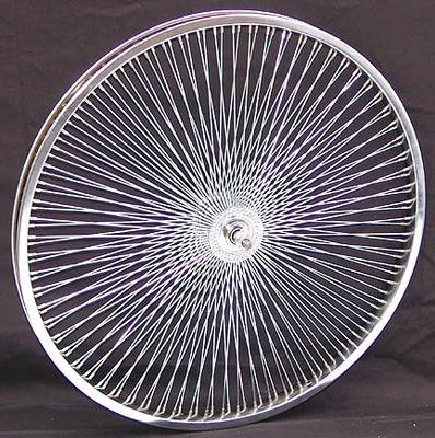 "24"" 140 Spoke Front Wheel CHROME"