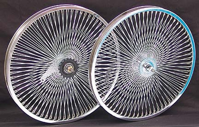 "20"" 140 Spoke Coaster Wheel Set CHROME"