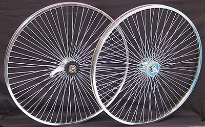 "26"" 68 Spoke Coaster Wheel Set CHROME"
