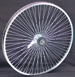 "24"" 68 Spoke Coaster Wheel CHROME"