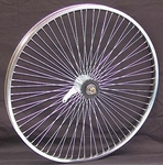 "26"" 68 Spoke Coaster Wheel CHROME"