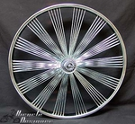 "26"" 140 Fan Free Wheel CHROME"