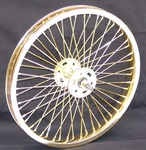 "16"" 52 spoke Front Wheel GOLD"