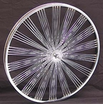"24"" 140 Fan Front Wheel CHROME"