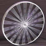 "26"" 140 Fan Spoke Front Wheel CHROME"