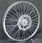 "20"" 36 Spoke Front Disk Wheel CHROME"