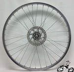 "26"" 36 Spoke Front Disk Wheel CHROME"