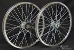 "20"" 36 Spoke Coaster Wheel Set CHROME"