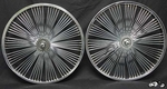 "20"" 140 Spoke Fan Coaster Wheel Set CHROME"