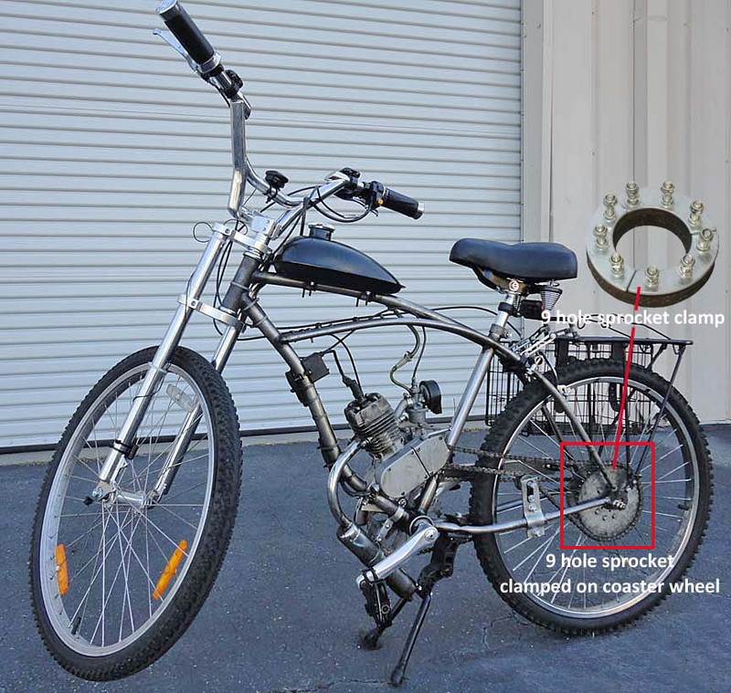 26 Coaster Wheel Set For A Cruiser Bicycle Or Motorized Bike