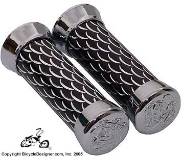 Deluxe Scale Bicycle Grips BLACK
