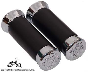Deluxe Bicycle Grips PATENT LEATHER
