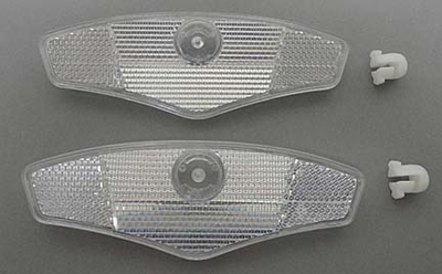 Bicycle Wheel Reflector CLEAR (pair)