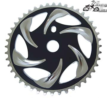 44 Tooth Sprocket Rip Curl BLACK/CHROME