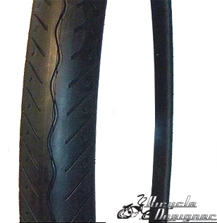 "20""x3"" Chopper Bicycle Tires ALL BLACK"