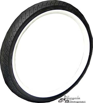 "20""x3"" Bicycle Tires WHITE WALL"