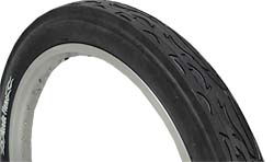"24"" x 3"" Bicycle Tire ALL BLACK"