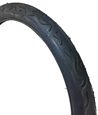 "26"" X 2.125"" Bicycle Tires ALL BLACK FLAME"