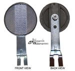 Front Bicycle Reflector with Bracket CLEAR (each)