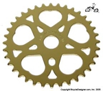 36 Tooth Sprocket Heart GOLD