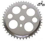 44 Tooth Sprocket Lucky 7 CHROME