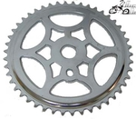 46T Snow Flake Sprocket - CHROME